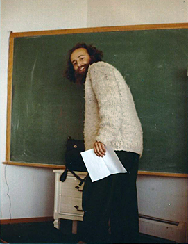 Kurt at the chalkboard at Sacramento State