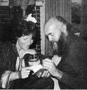 Ram Dass and a conference participant