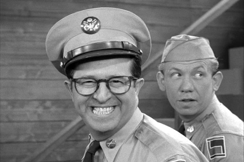 Phil Silvers as Sargeant Bilko
