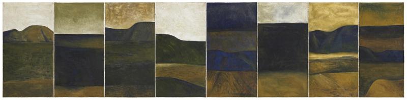 Landscape by New Zealand painter Colin McCahon
