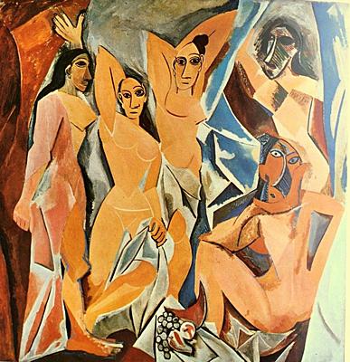 """Pablo Picasso's """" Les Demoiselles d'Avignon"""" - Circa 1907"""
