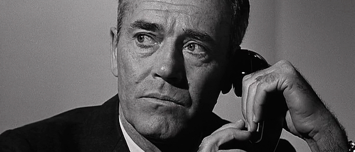 Henry Fonda as the President of the United States in the 1964 film about nuclear war, Fail Safe.