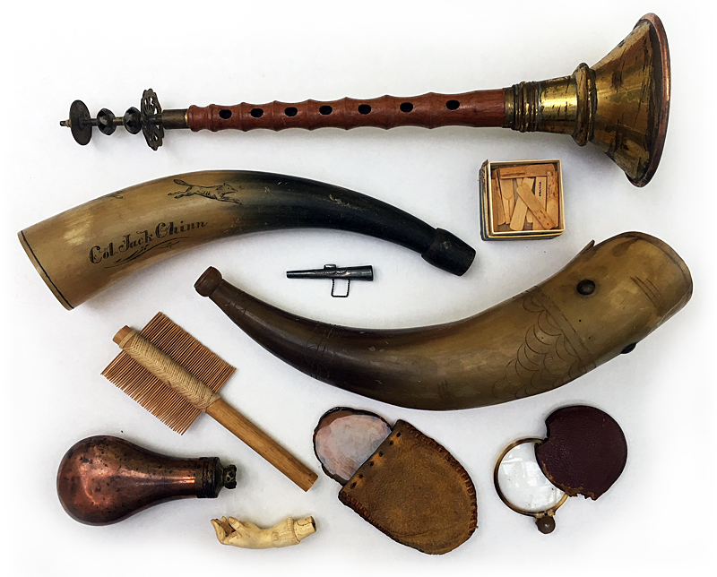 A small number among the many in Kurt's varied collection of curios, objects, ritual implements, and instruments.