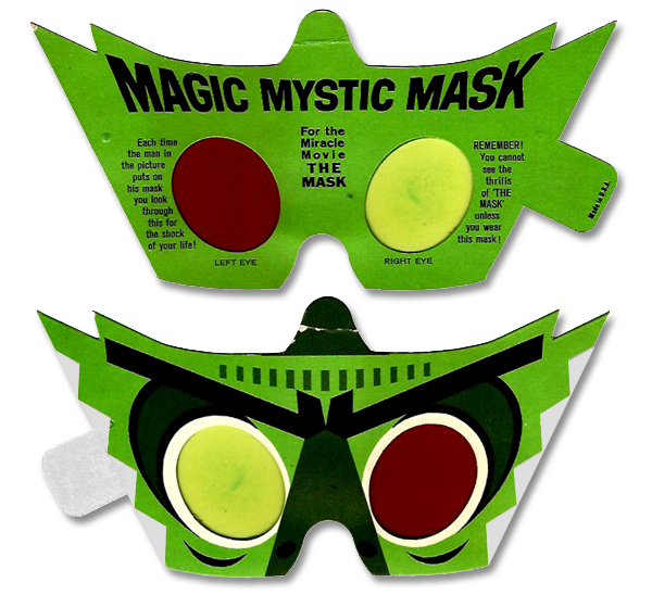 """This """"Mystic Mask"""" was included in the Manila folder in which Kurt had placed the event brochure."""