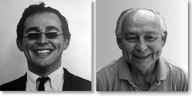 To the left is Kurt in 1966, the popular  rock-star professor of UCLA; to the right, as he looked in 2010, after 40 years of teaching.