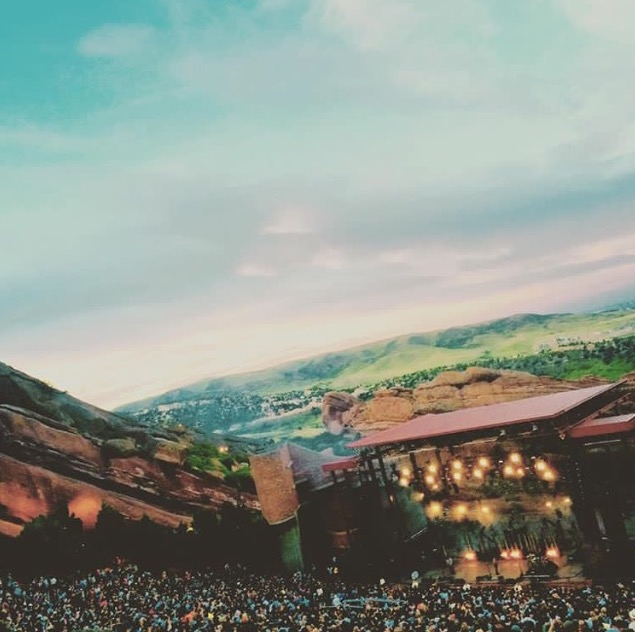 Milky Chance at my favorite music venue, Red Rocks Amphitheater, in Morrison, CO, August 2015 <3