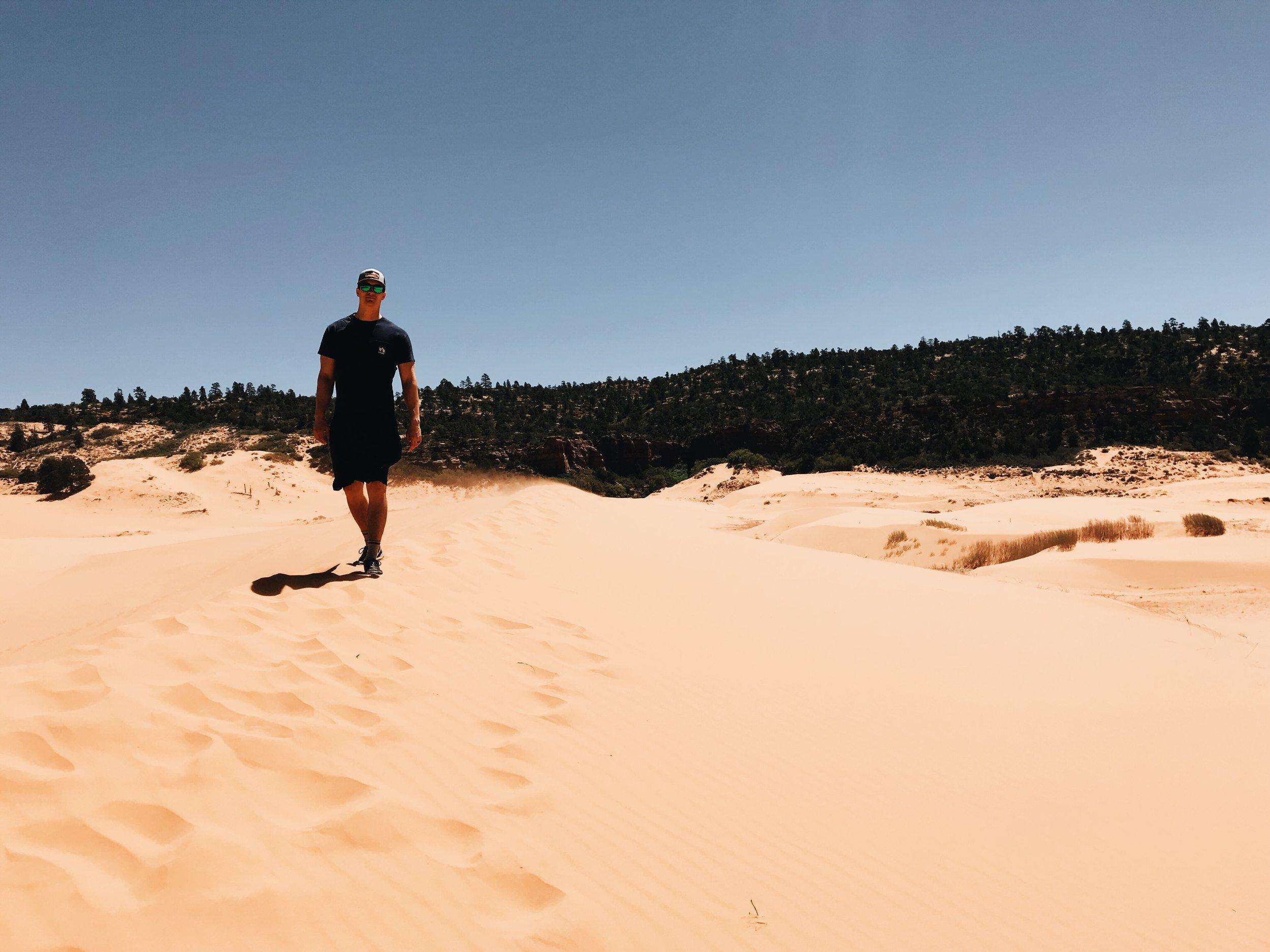 Alec at Coral Sand Dunes State Park. Mt Carmel Junction, UT