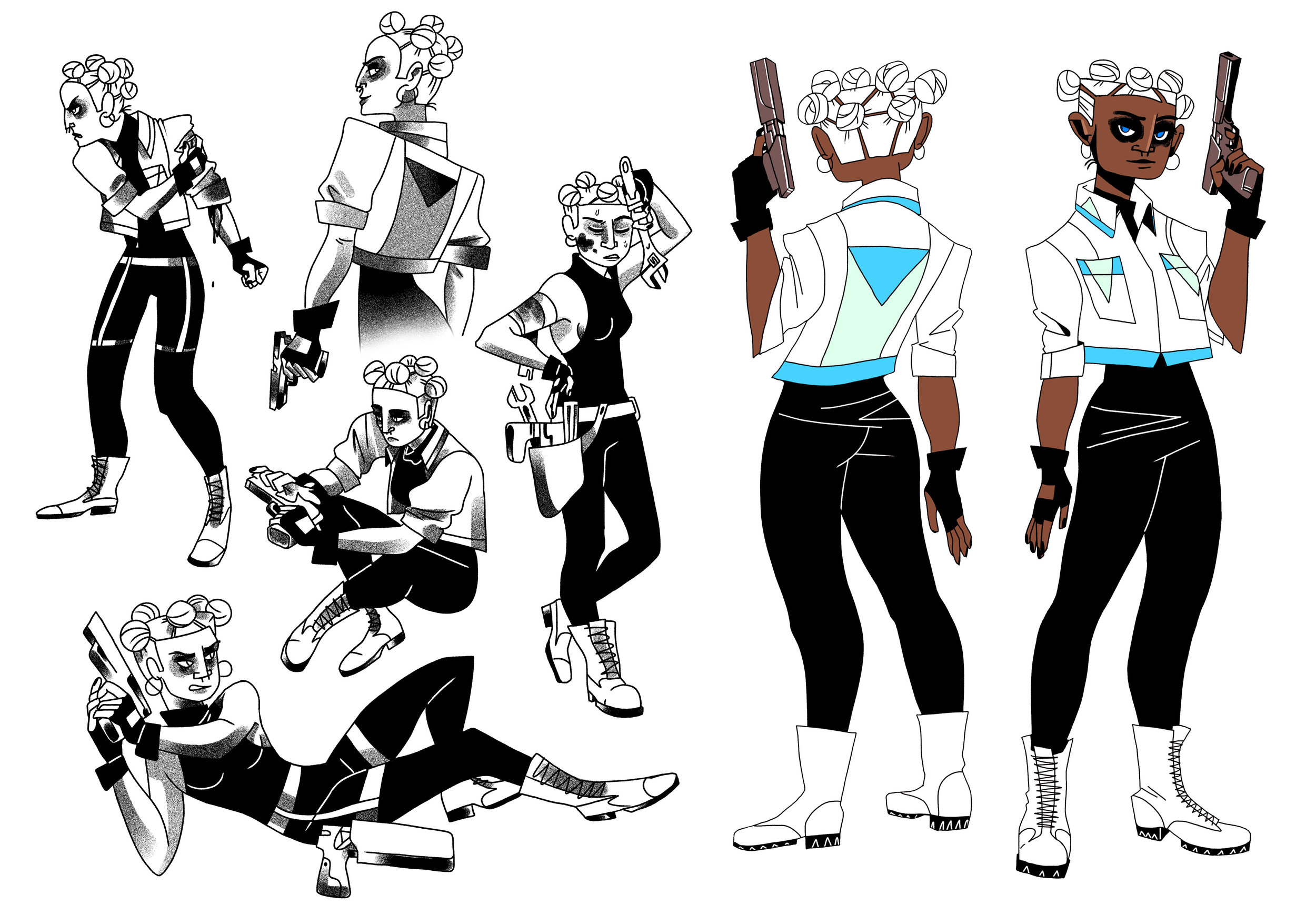 Environmental and character design for my original story, Anthropocene.