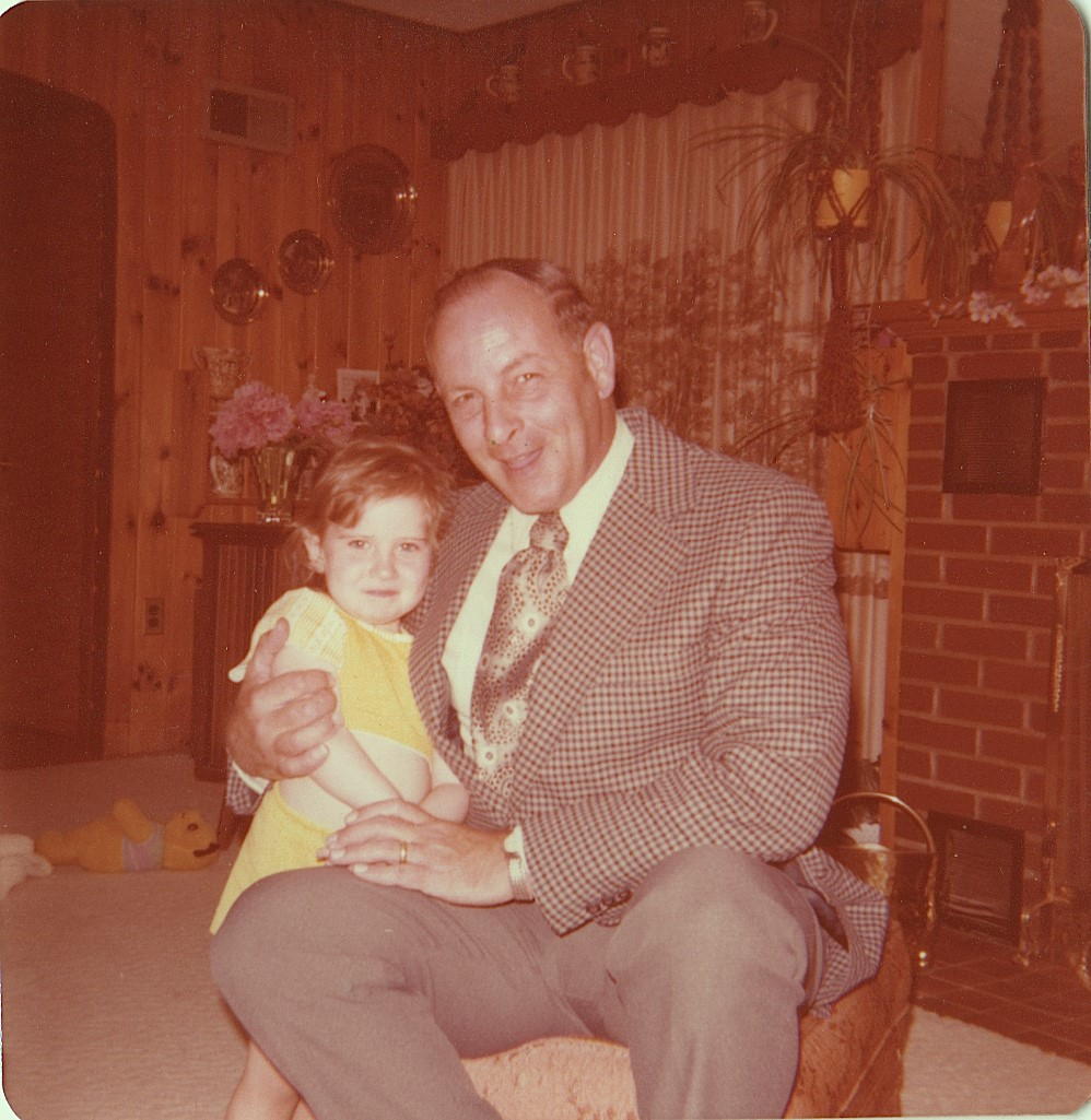 My father and me in 1978, back in the early days of my cheese curd indoctrination.