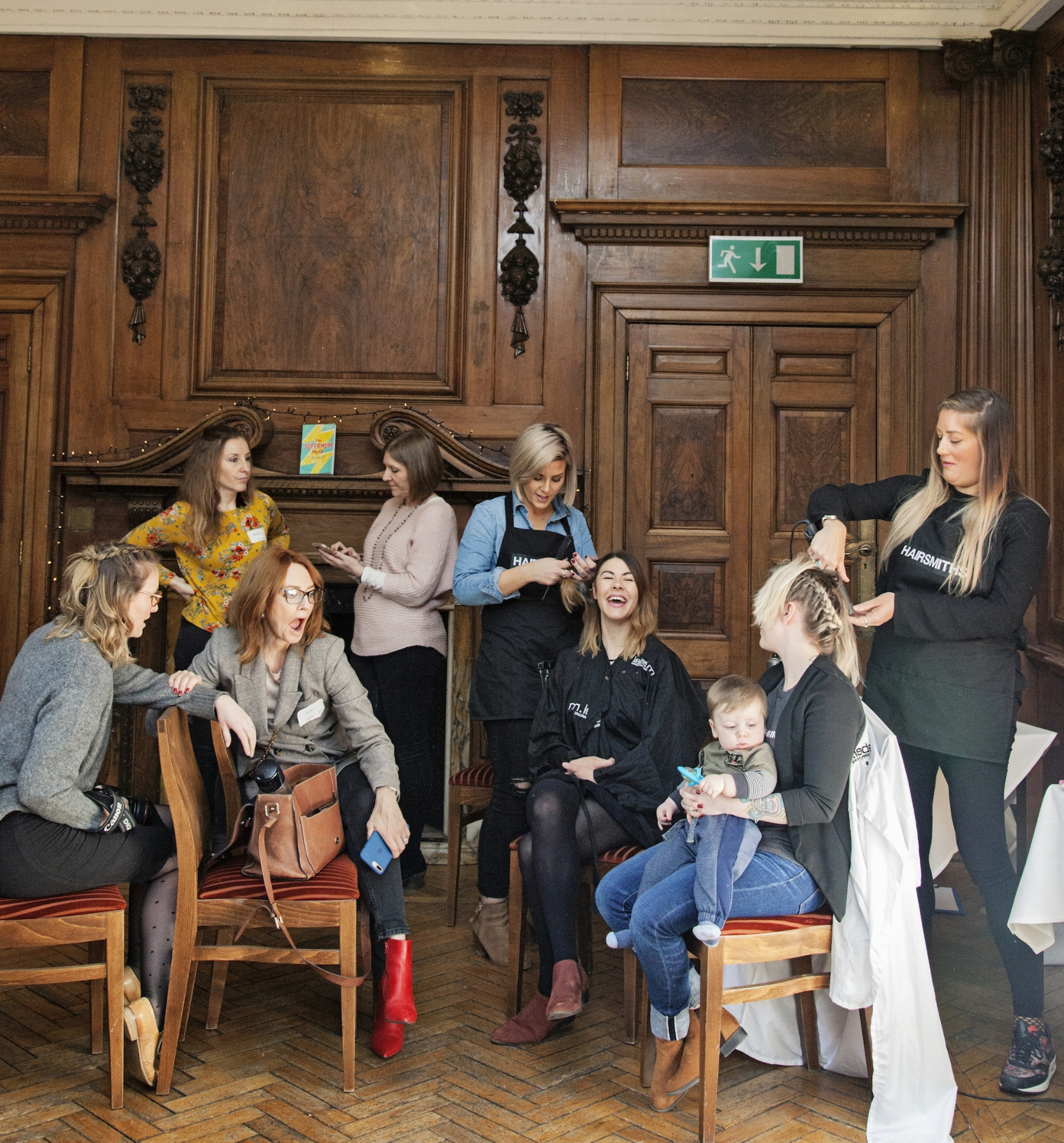 Hairsmiths  pampering mums at Busting the Supermum Myth event