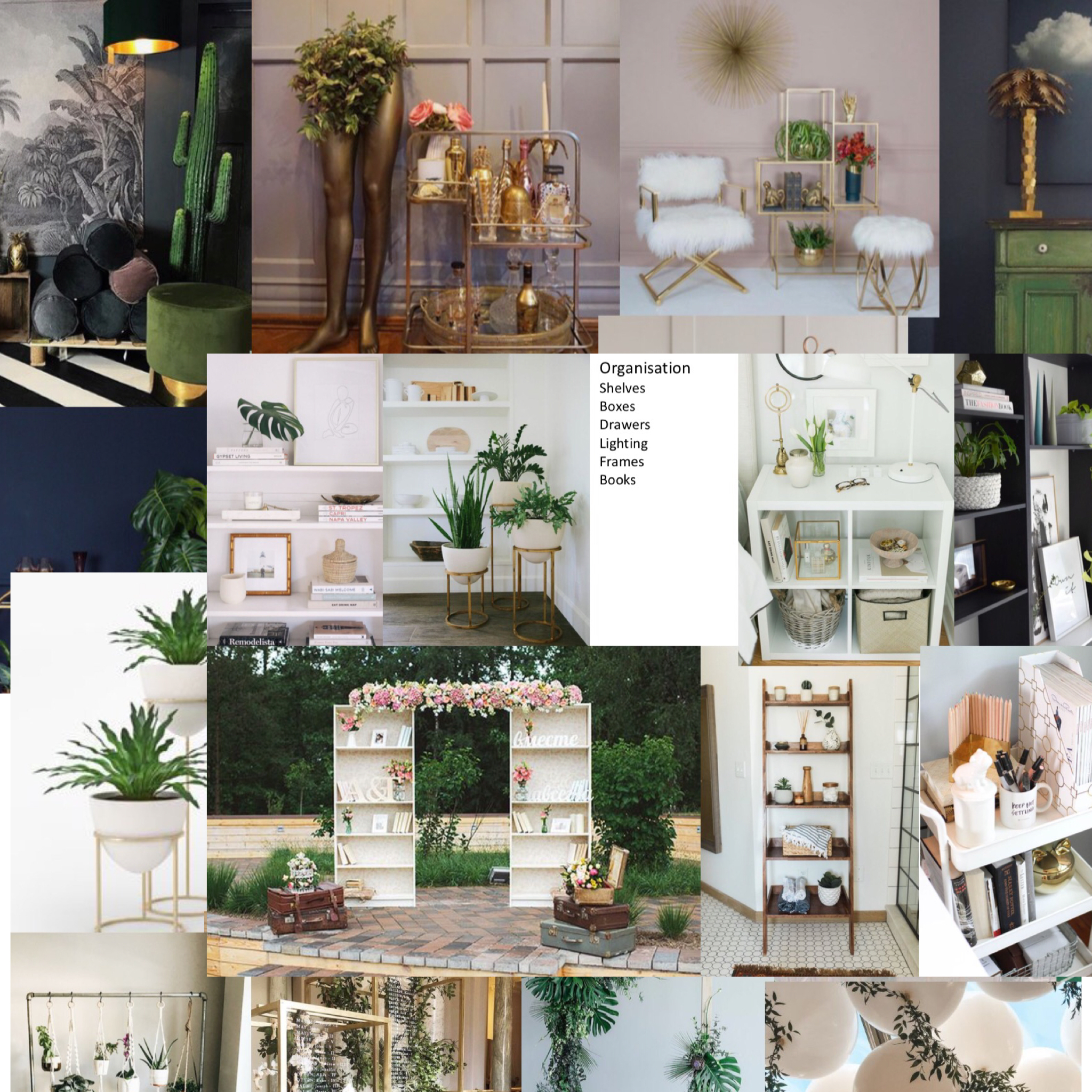 Some of the moodboards