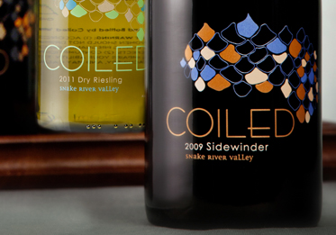 COILED Wines Logo and Label Design