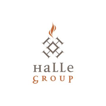 Halle Group Logo Design