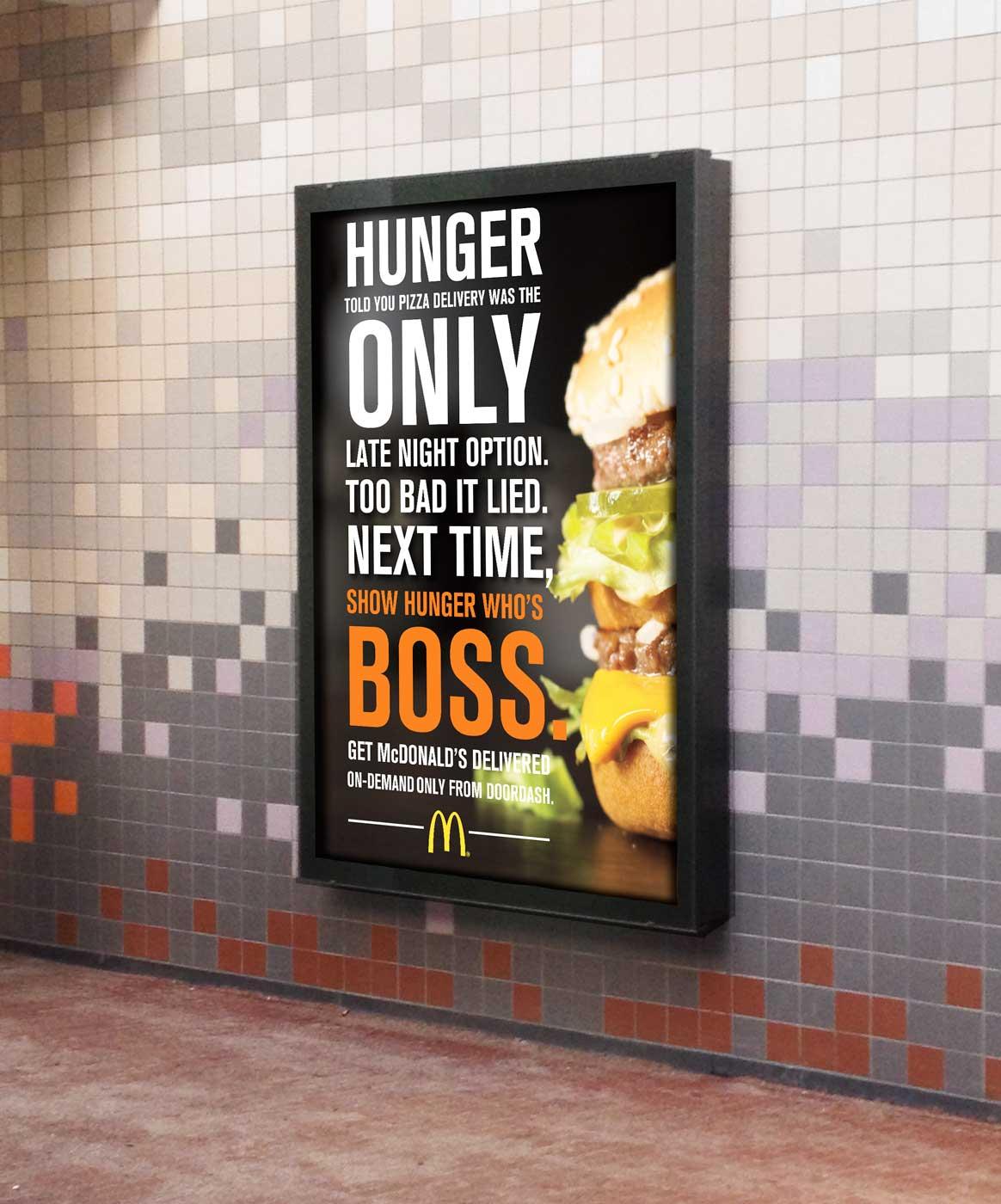 Subway station ad