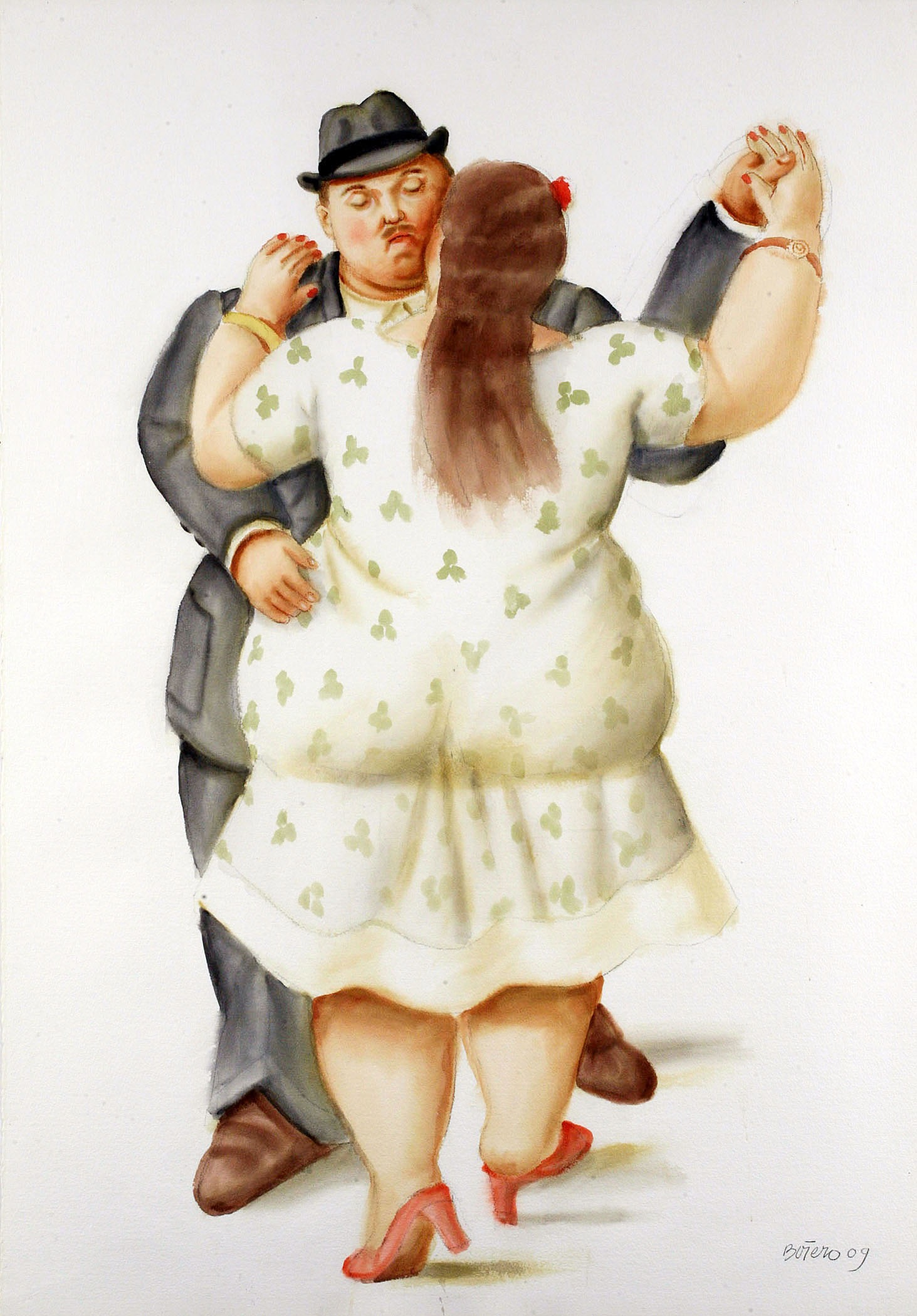 Botero, Dancers, 2009, watercolor on paper, 105 x 75 cm, NOS 50 279.jpg