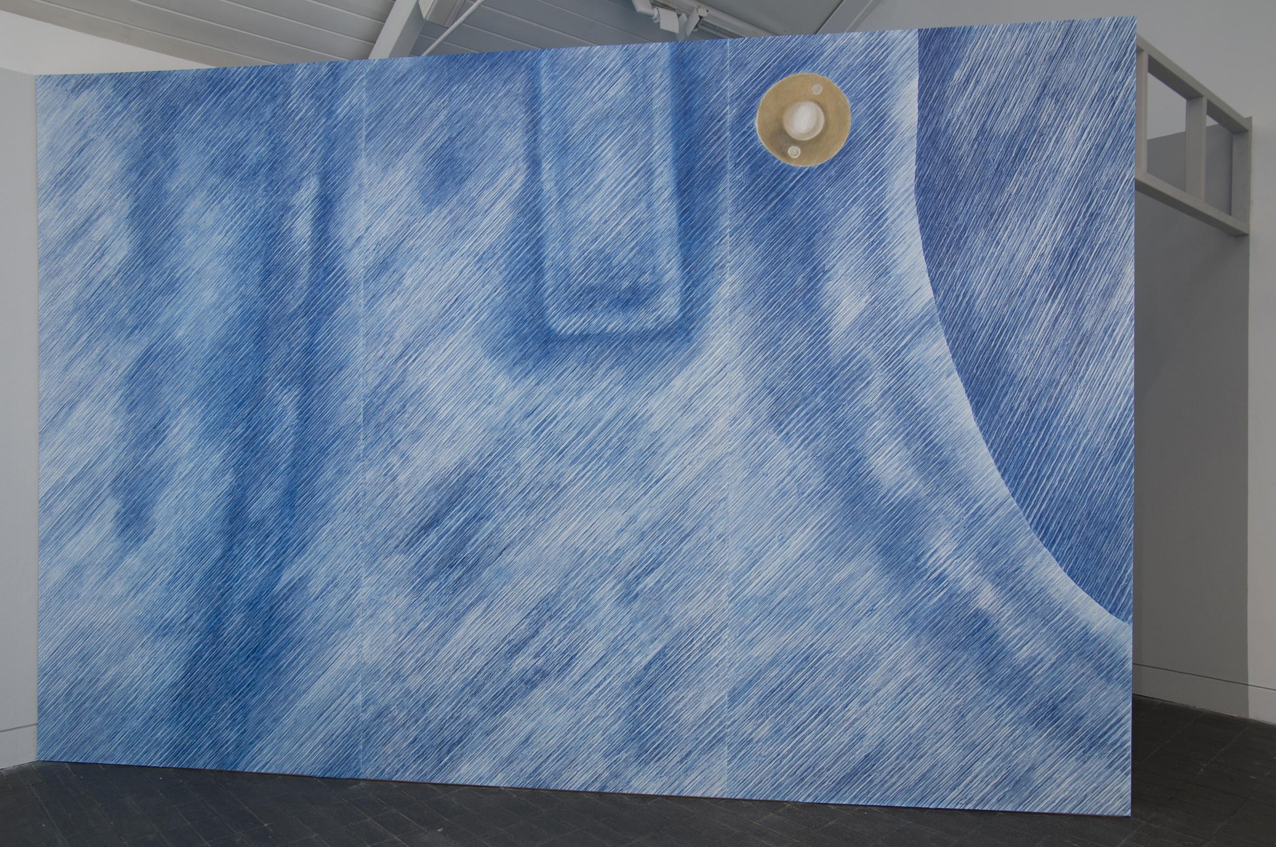 Stud    Pencil rubbing on paper  304.8 cm x 450 cm  Exhibition view Jerwood Space, London  2014  Photo: thisistomorrow.info
