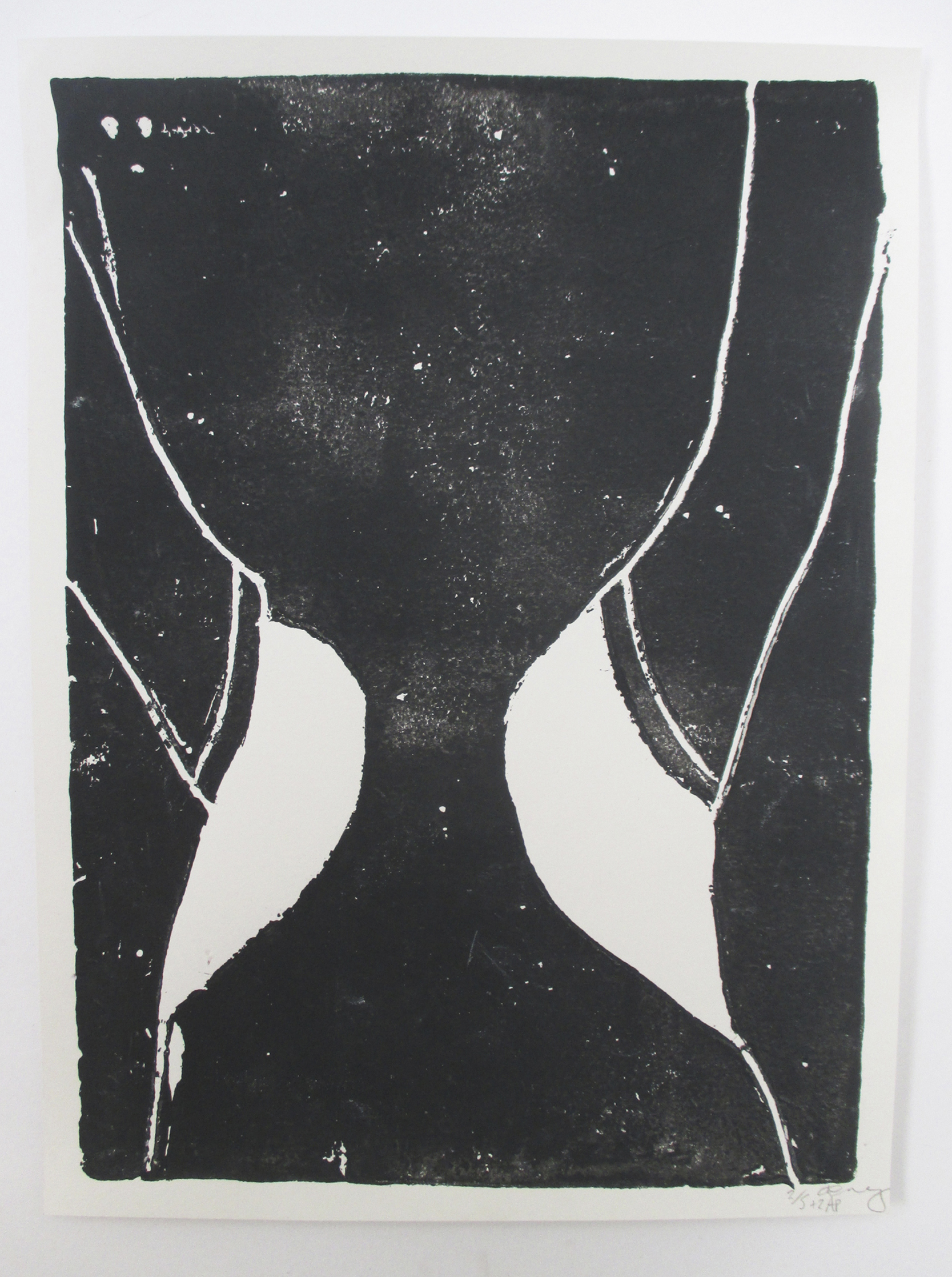 Pull ups (negative)   Clay print on Acid free Ken Cartridge 190gsm  23cm x 32cm  Edition of 5 +2 AP  2014