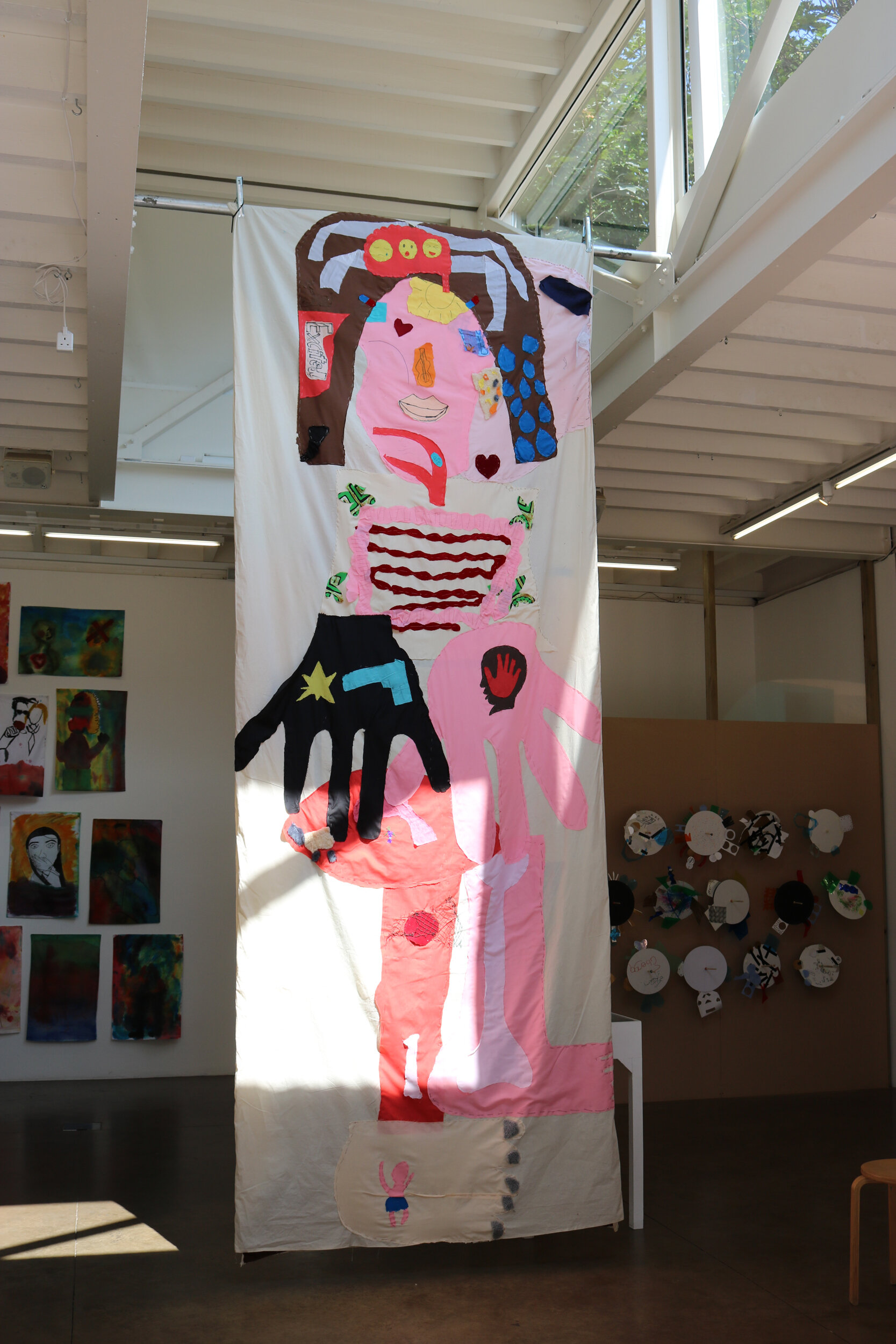 Inside/Out!   Reversible Fabric Applique  Turned inside out/ outside in once daily  400cm x 152cm  2018