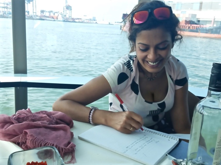 My new office: On a boat in Rotterdam, Netherlands! -