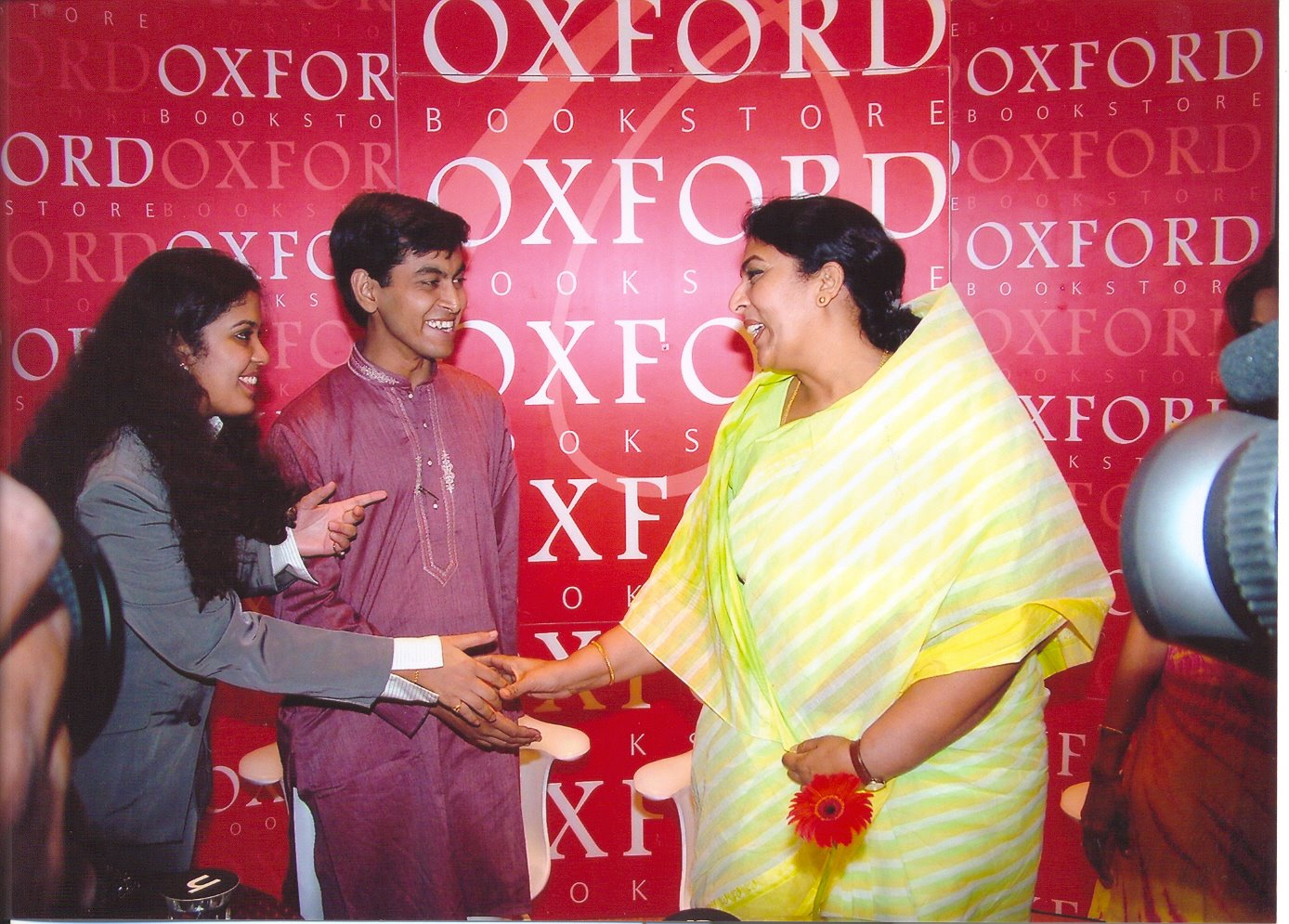 OXFORD BOOKSTORES.NEW DELHI. 2005 - THE VOYAGE TO EXCELLENCE - Official book launch with Congress official Renuka Chowdhury, Union Minister for Women and Child Welfare at the time.