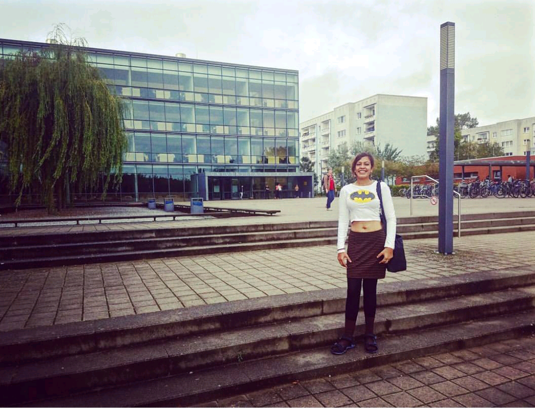 ROSTOCK, GERMANY. SEPT. 2017 - BOOK RESEARCH EXPEDITIONOutside the library at the University of Rostock. The vibe on campus blew my mind, as did the volume of literature on a specific historical postwar development.KEYWORDS: Rostock, University of Rostock, Nish Amarnath, Twin Flame, field trip, book research, ethnography, author life