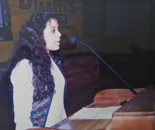 WORLD DIABETES DAY. 2002 - Addressing audiences as a speaker at a forum on World Diabetes Day at one of India's most leading hospitals in the area of Diabetes research, treatment and management.KEYWORDS: Diabetes, Juvenile Diabetes, Type 1 Diabetes, Nish Amarnath, Nischinta Amarnath, World Diabetes Day.