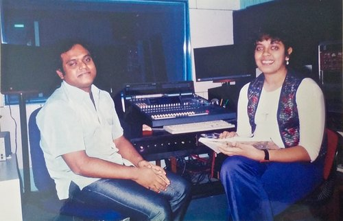AN INTERVIEW WITH HARRIS JAYARAJ. CHENNAI. 2002. - During a press interview with Indian film composer and music director Harris Jayaraj for The Hindu.KEYWORDS: Harris Jayaraj, music director, music producer, The Hindu, Chennai.
