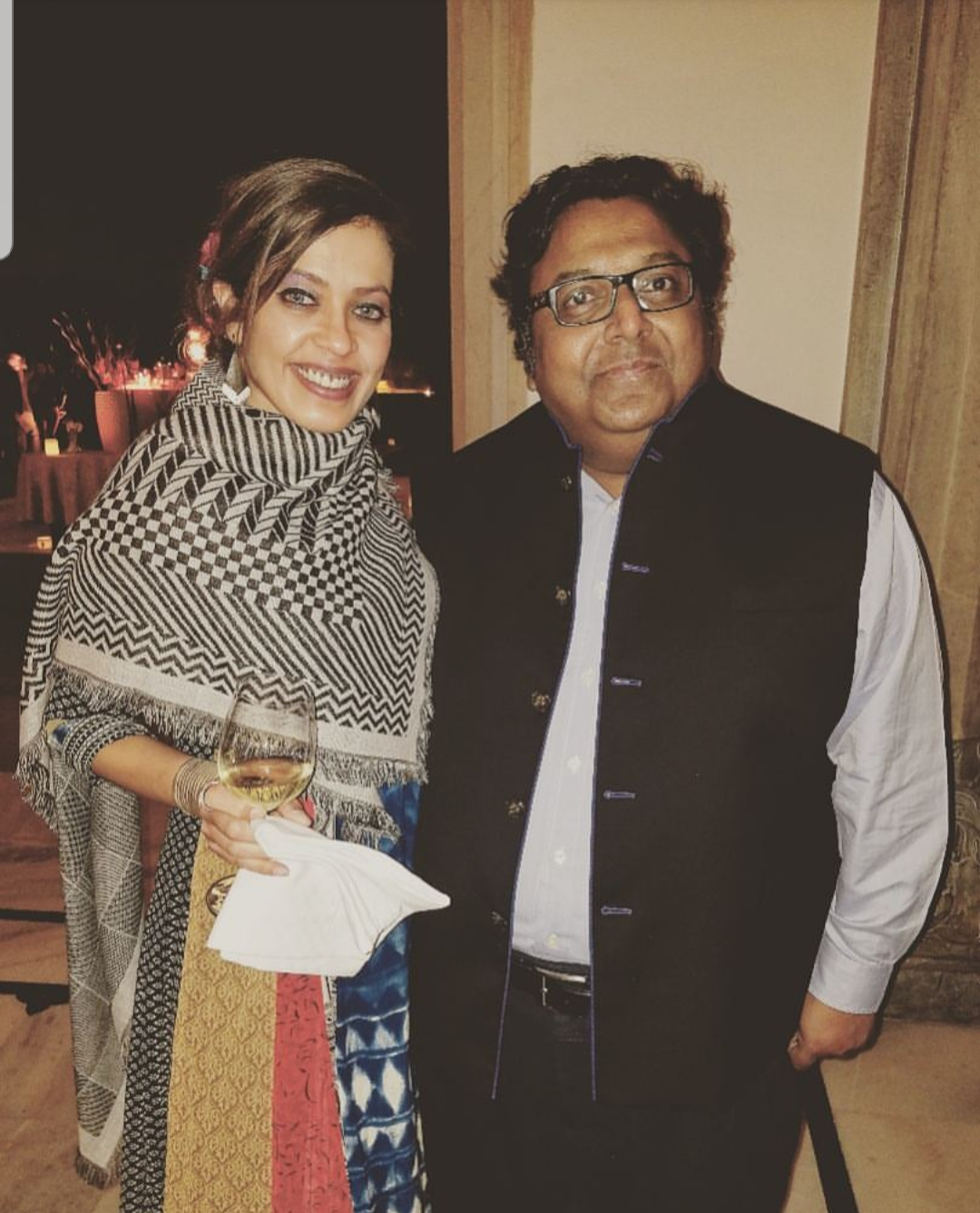 JAIPUR LITERATURE FESTIVAL.JAIPUR, INDIA. 2018 - With Ashwin Sanghi, one of India's most favorite fiction thriller authors at a private event in ZEE JLF, and I immensely enjoyed our conversation, where he shared his adventures from a book research expedition, among other things!KEYWORDS: Ashwin Sanghi, Nish Amarnath, Jaipur Lit Fest, Jaipur Literature Festival, ZEE JLF, Nischinta Amarnath, Victims For Sale, thrillers, fiction, fiction authors, bestselling authors.