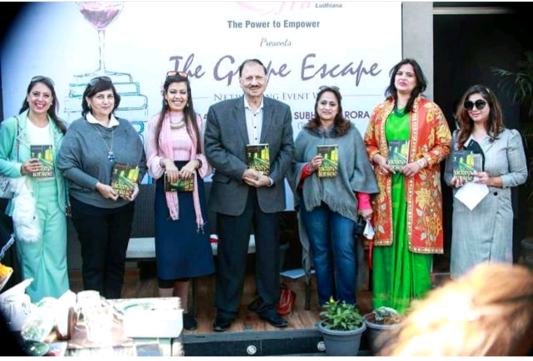 FICCI Ladies Organization. FICCI. Ludhiana. Jan. 2019 - VICTIMS FOR SALE sees a Punjab launch at Ludhiana's Penthouse and marks the inauguration of a book club under the patronage of FICCI Ladies Organization, or FICCI-FLO, an affiliate of the Federation of Indian Chambers of Commerce and Industry. As seen here with FICCI-FLO Ludhiana Chair Reena Aggarwal, Habitat Architects Creative Director Monika Zafar Choudhary and India Wine Awards co-founder Subash Arora, also known as the Wine Guy of India!KEYWORDS: Books and wine, Ludhiana, Punjab, author events, Nish Amarnath, Nischinta Amarnath, Victims For Sale.