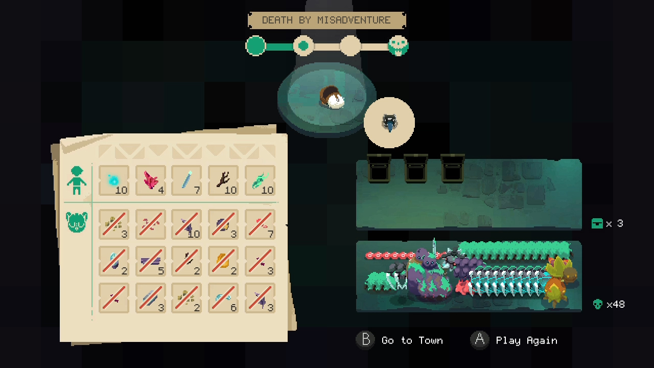 Death in Moonlighter is strict but fair.