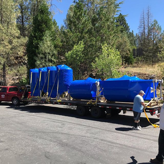 First of two deliveries for Bullmastiff Brewing Co. Located in Penn Valley California.