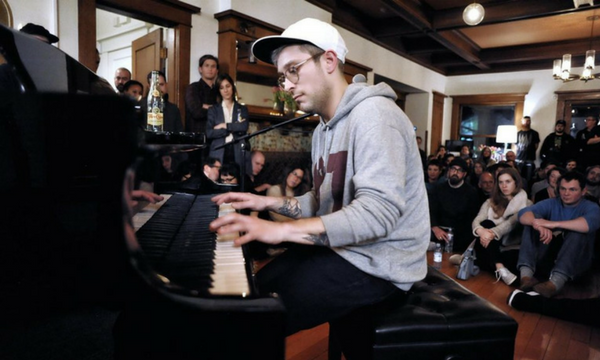 Kyle O'Quin performs during Higher Education at The Harry McCormick House in Portland. (Courtesy of Mirifoto)