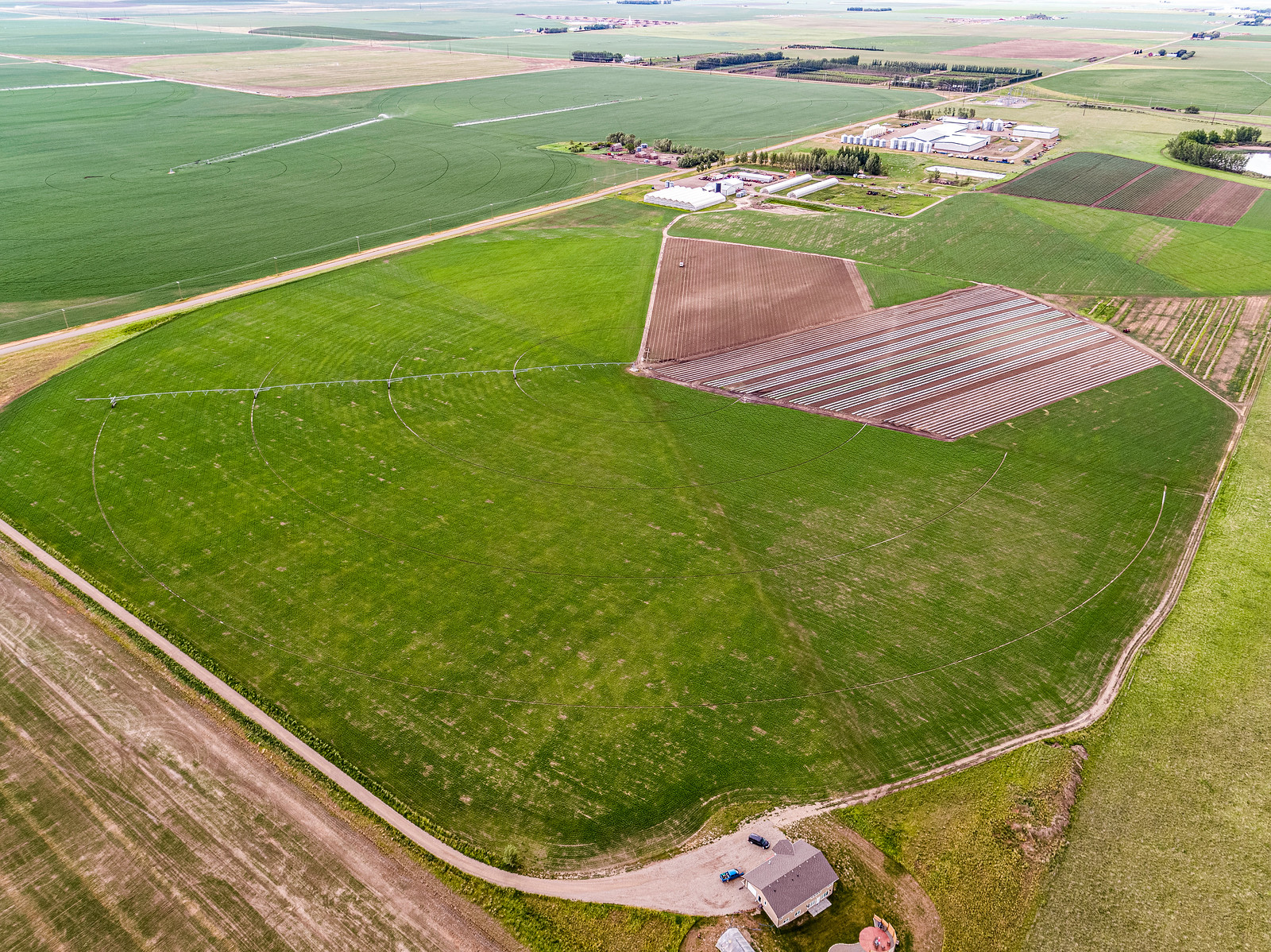 aerial view from northwest