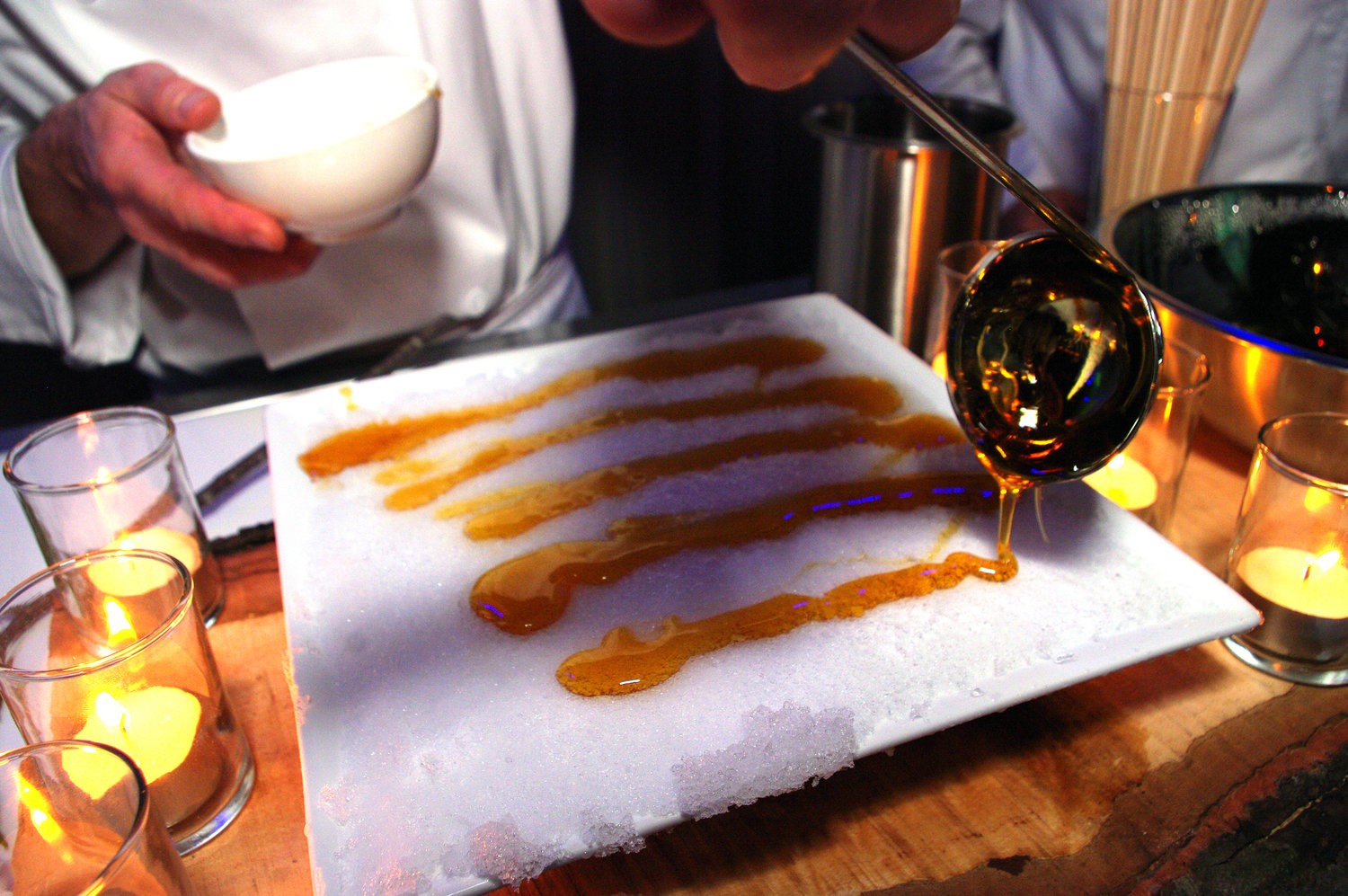 Pouring Maple Taffy