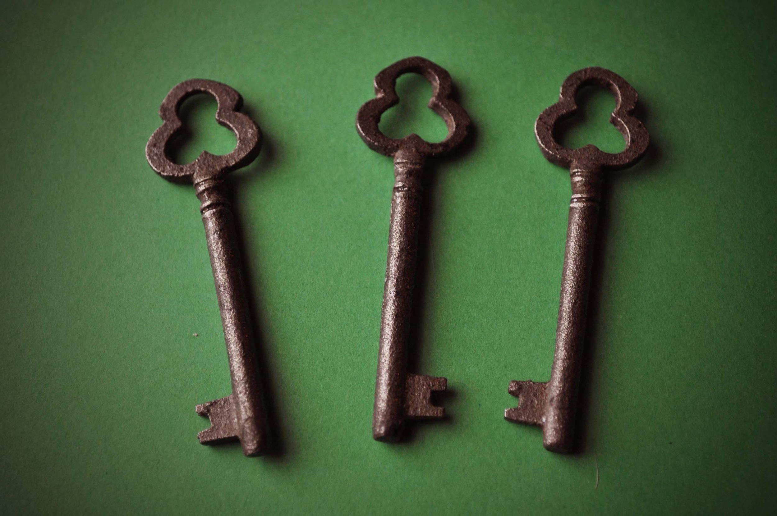 Web Portfolio 2nd Round Addition--In the Green Series--Three Clover Keys 8-20-17.jpg