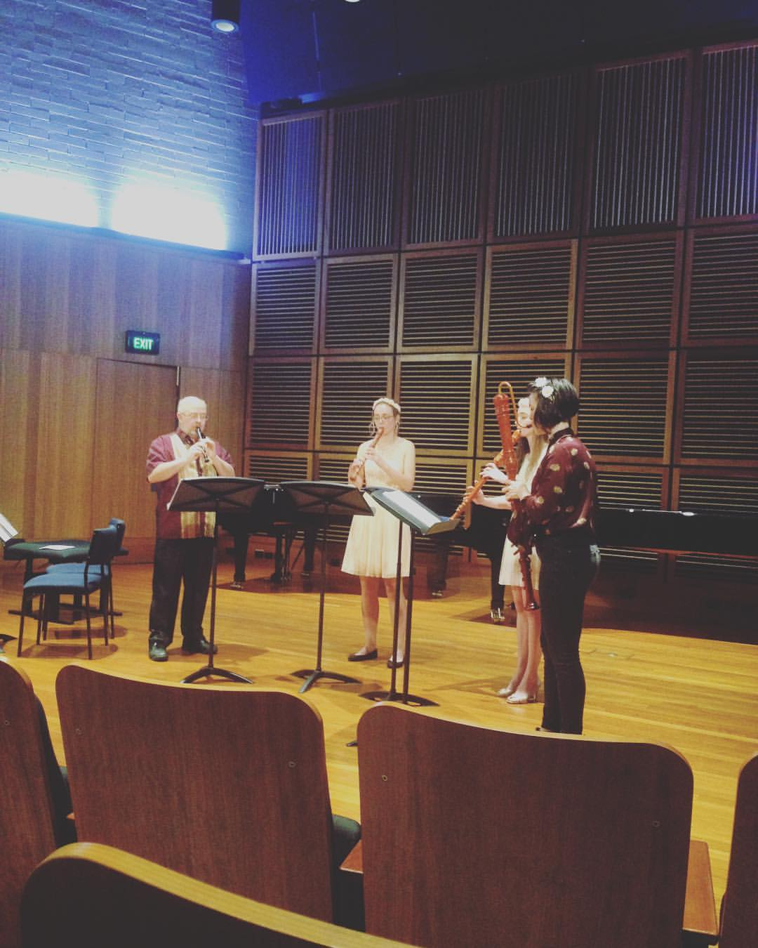 World Premiere of my recorder quartet 'In The Autumn Wind We Sway' 2016