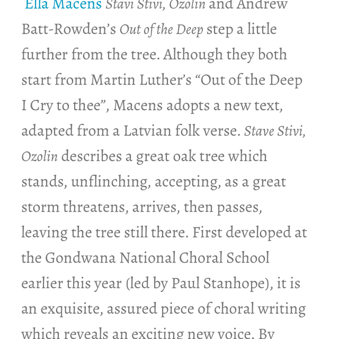 My First Public Review thanks to Harriet Cunningham in 2017