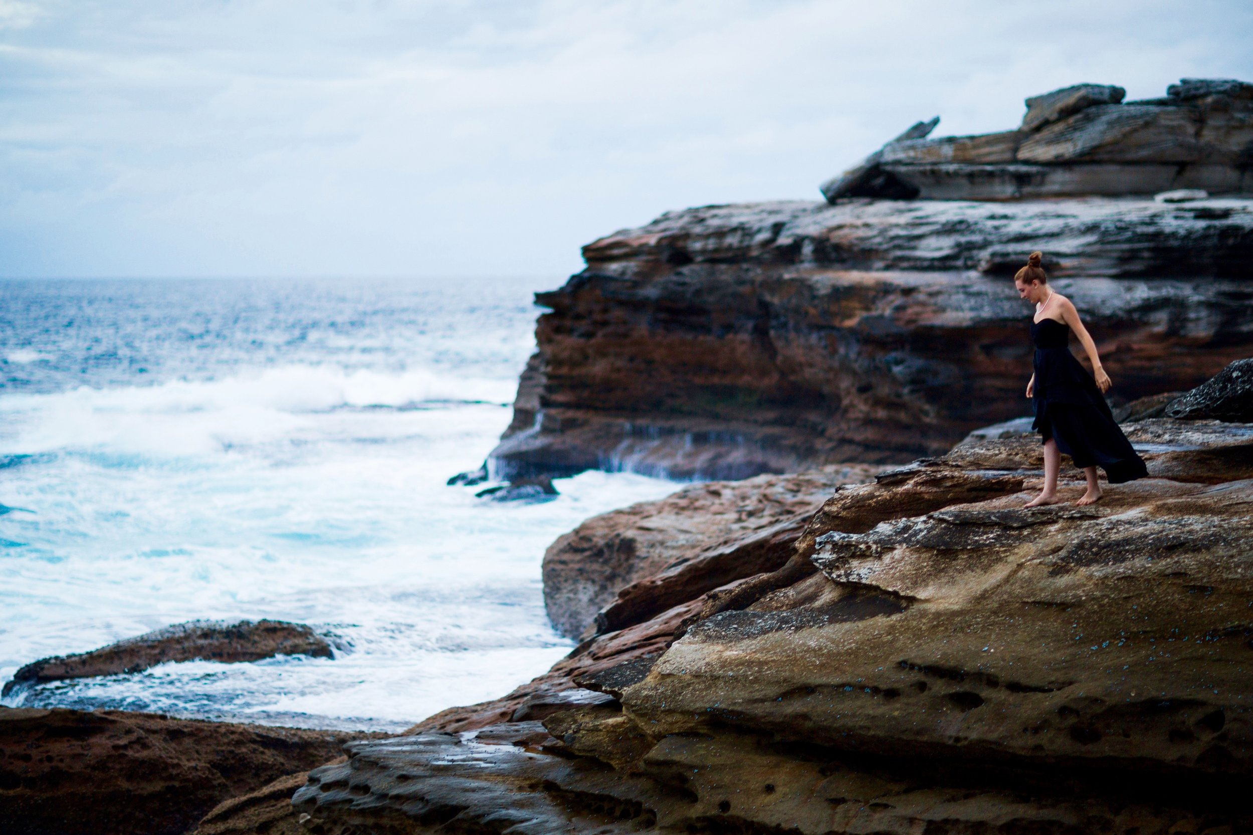On the cliffs at Little Bay, NSW in 2015