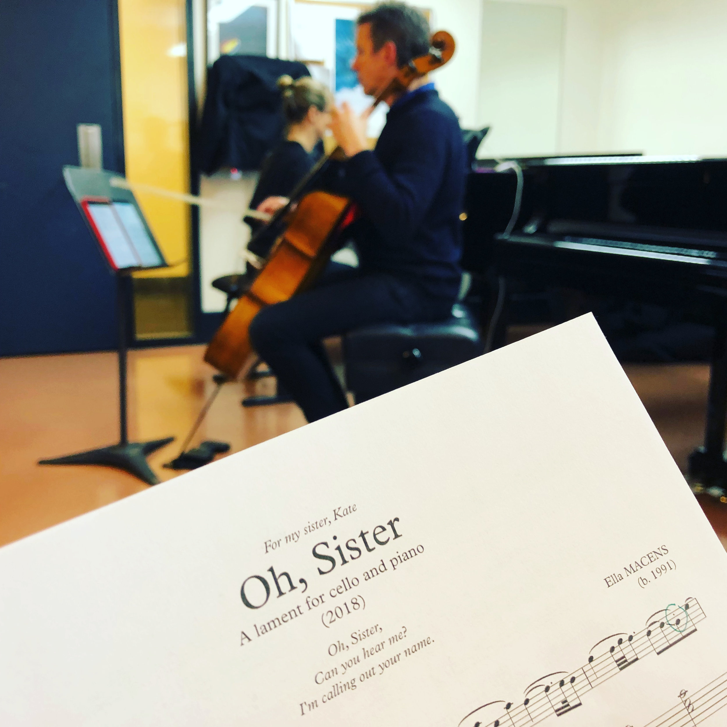 Rehearsing with Julian Smiles and Bernadette Harvey in 2018