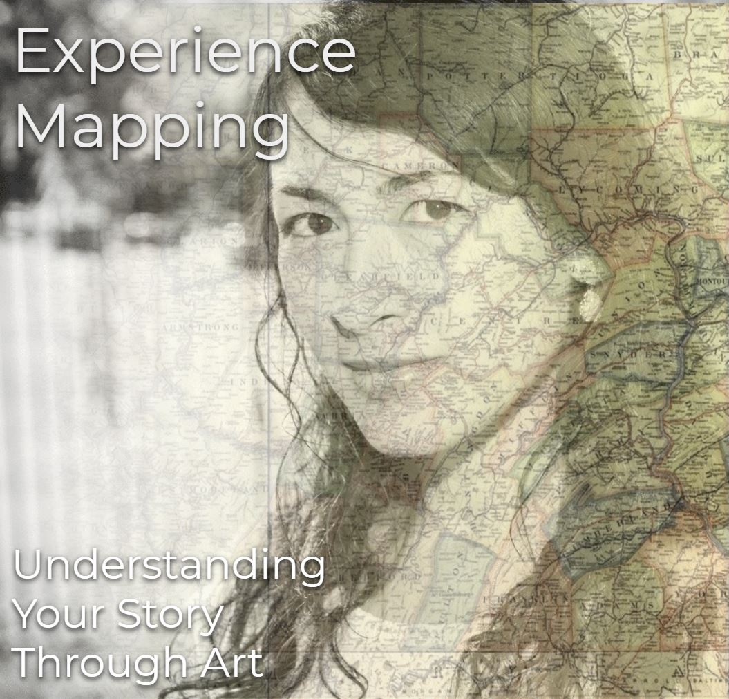 Experience Mapping Workshops - My workshop is a guided creative exercise for participants to chart personal experiences of their choosing in a map format, and then to create an expressive art piece based on their map. Mapping these experiences (which may include chronic illness, childhood, medical, personal, traumatic, positive, developmental, professional, etc.) in a creative medium channels new realizations and ways of understanding one's story.