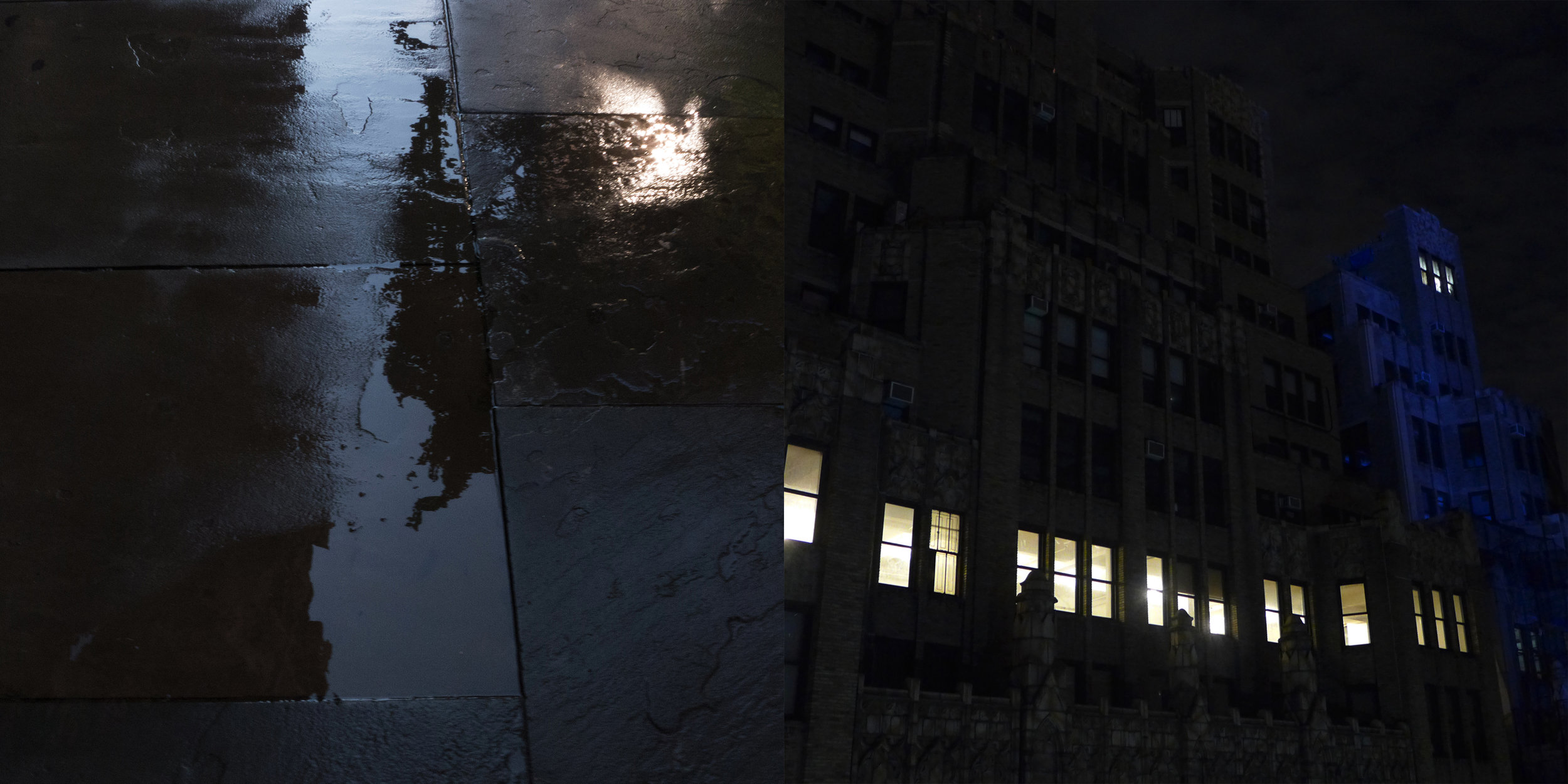 Water on Slate, Gramercy Park & Night, West 29th Street