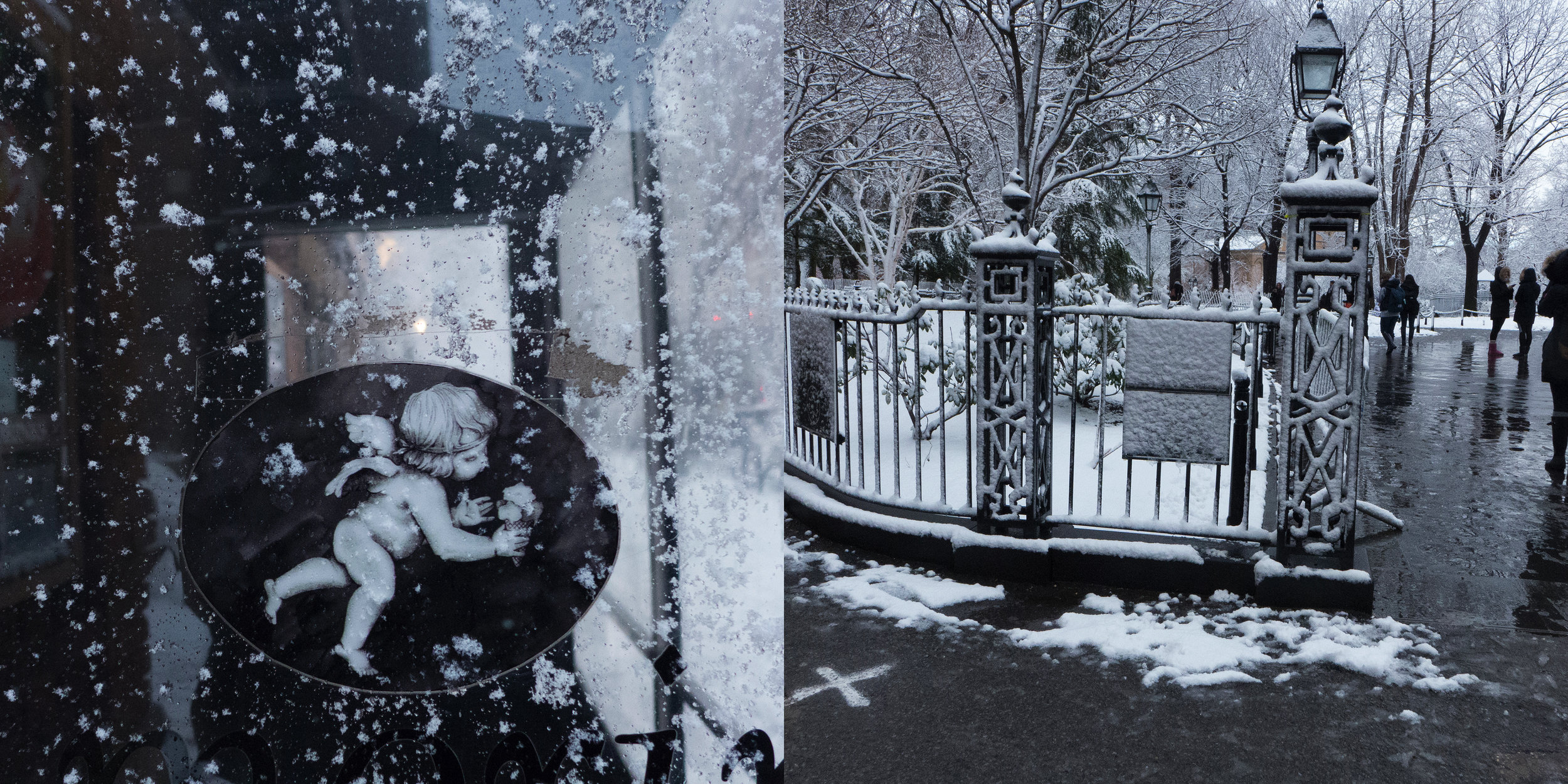 Ice Angel & Snow, Washington Square Park