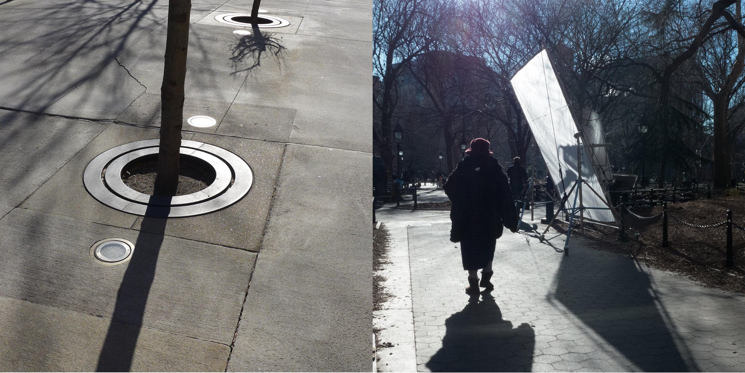 Light, Lincoln Center & Scrim, Washington Square Park