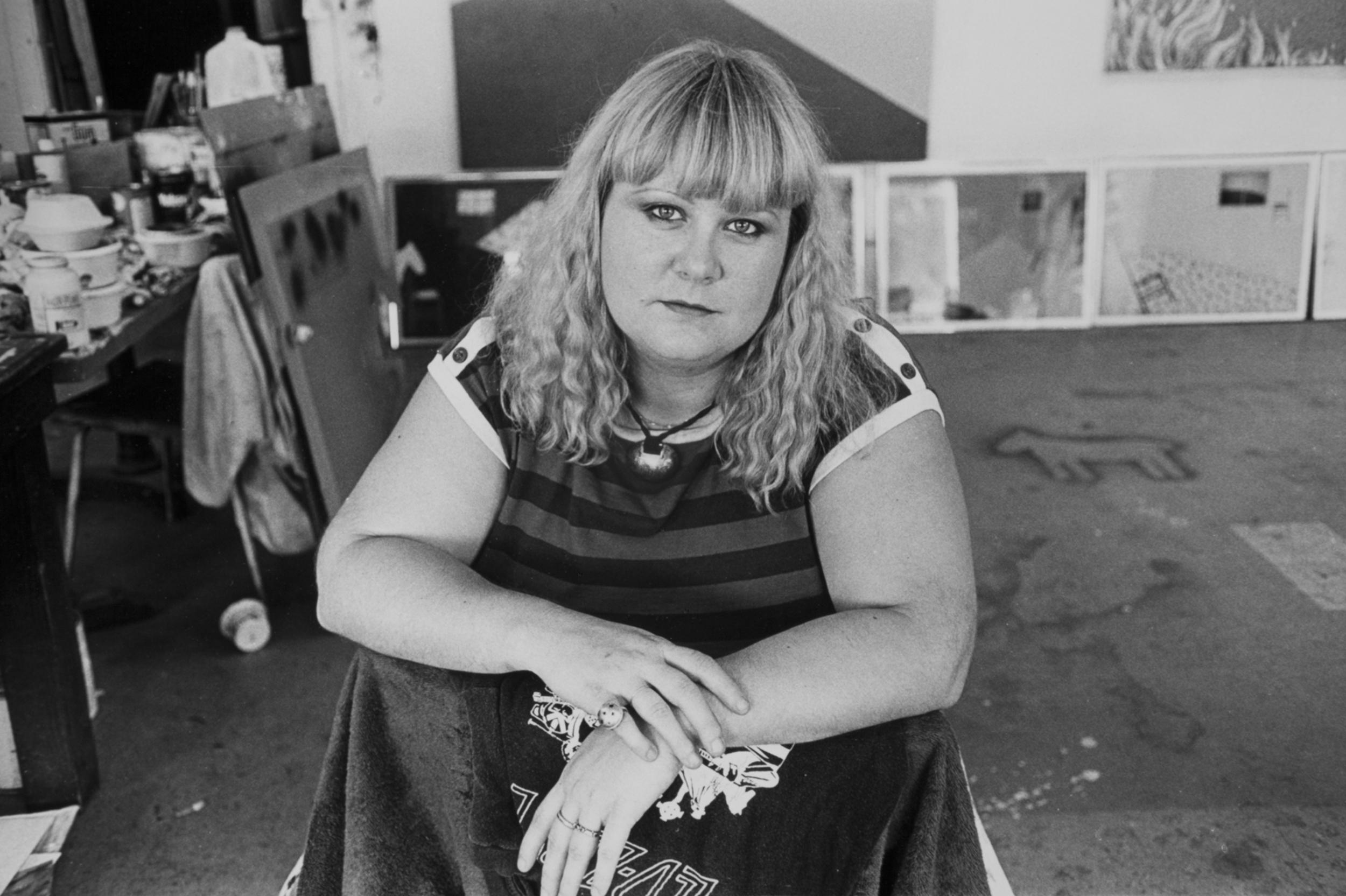 Vicki Teague-Cooper in her studio