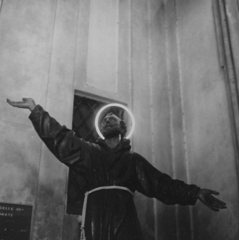 Saint with Neon Halo