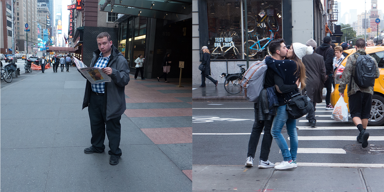 Man on 7th Avenue/Couple on 6th Avenue