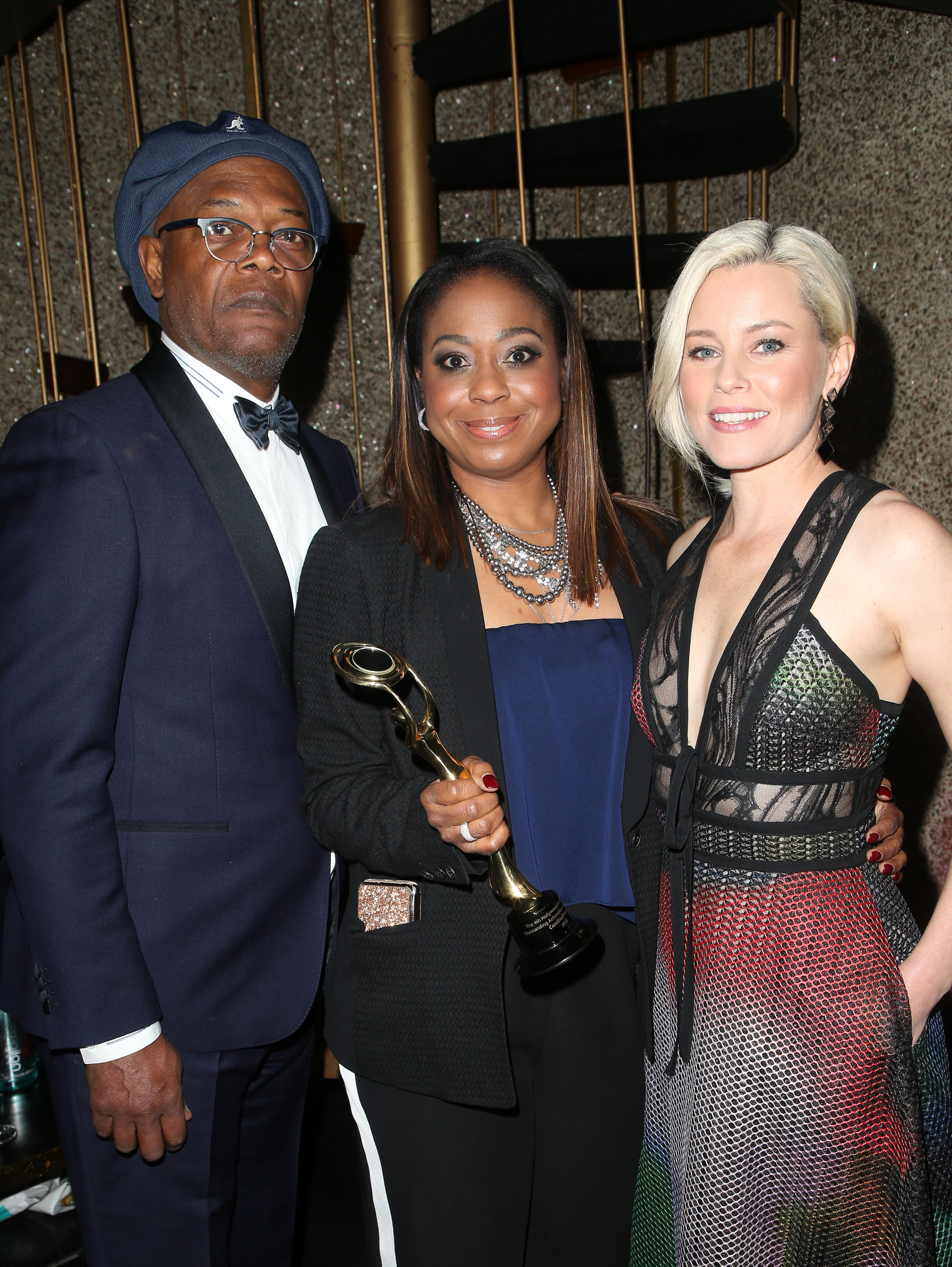 Samuel Jackson, Camille Friend and Elizabeth Banks | Feb 25, 2018, Hollywood Beauty Awards held at the Avalon