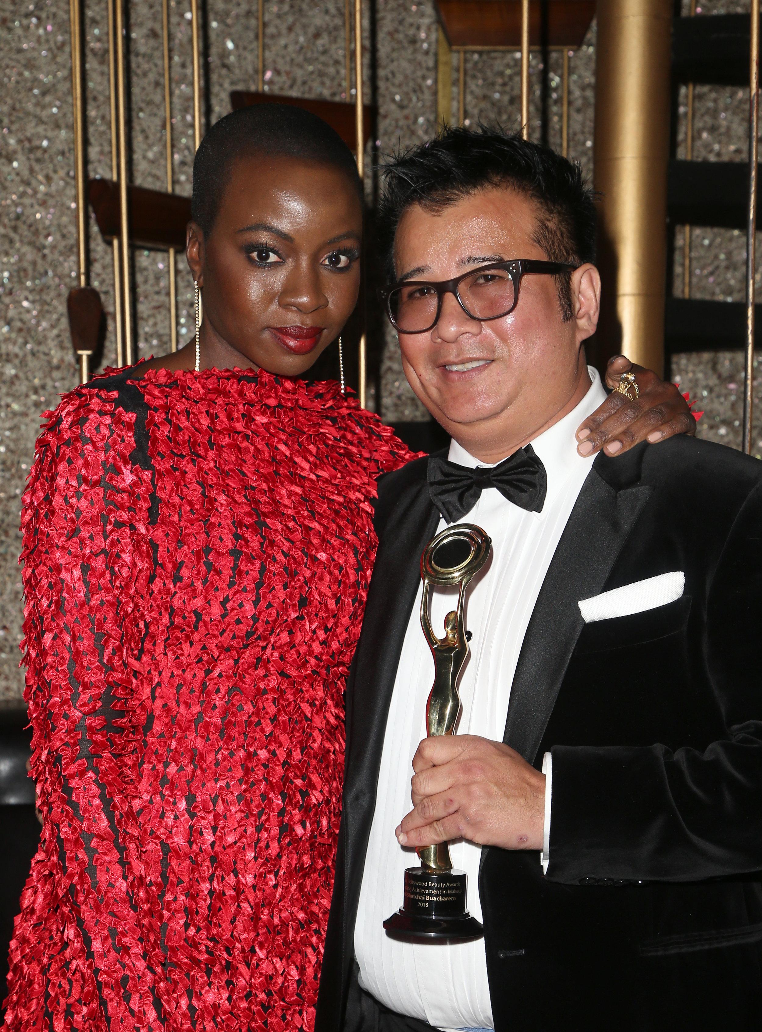 Danai Gurira and Tym Shutchai Buacharern | Feb 25, 2018, Hollywood Beauty Awards held at the Avalon