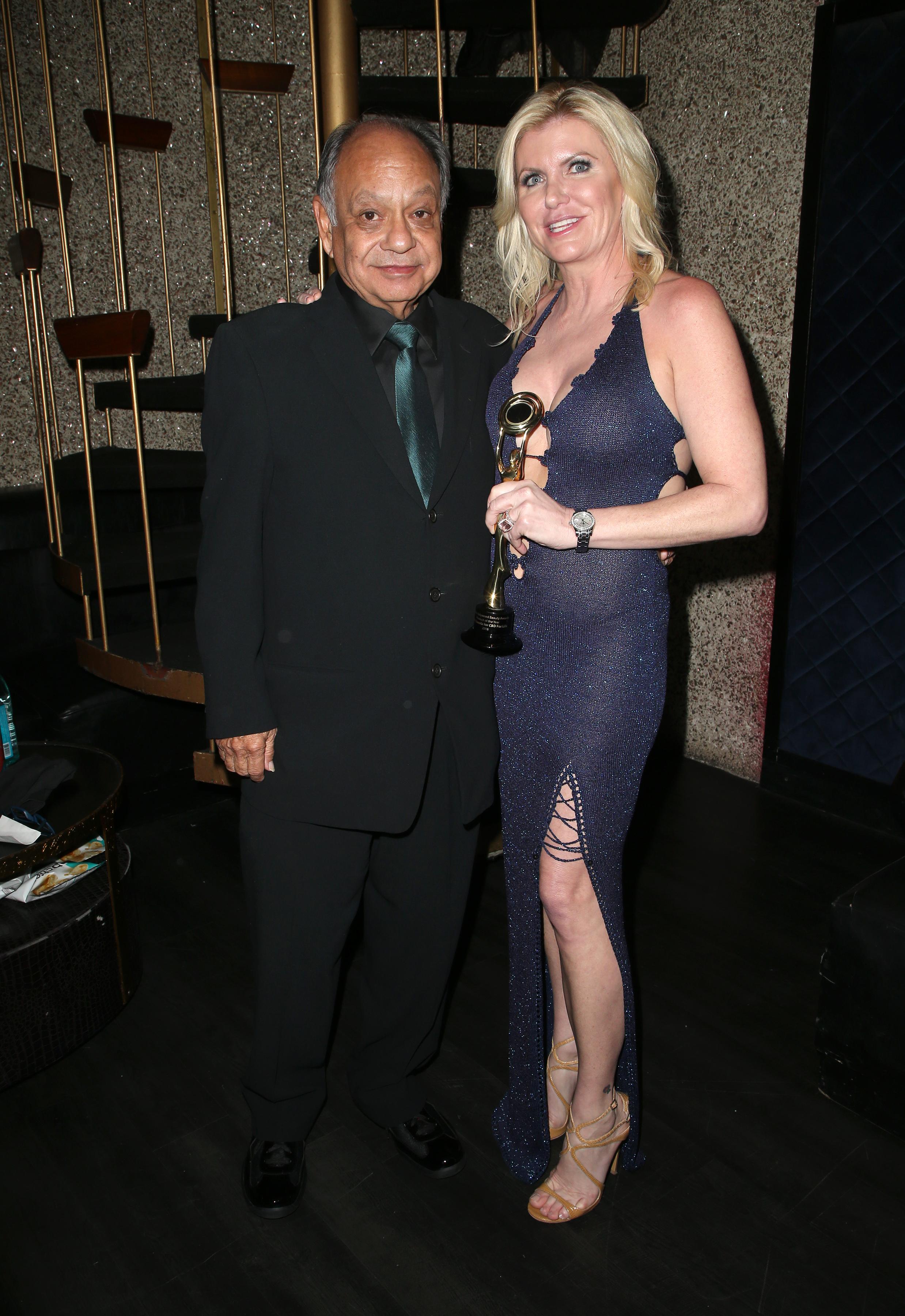 Cheech Marin and Beth Stavola | Feb 25, 2018, Hollywood Beauty Awards held at the Avalon