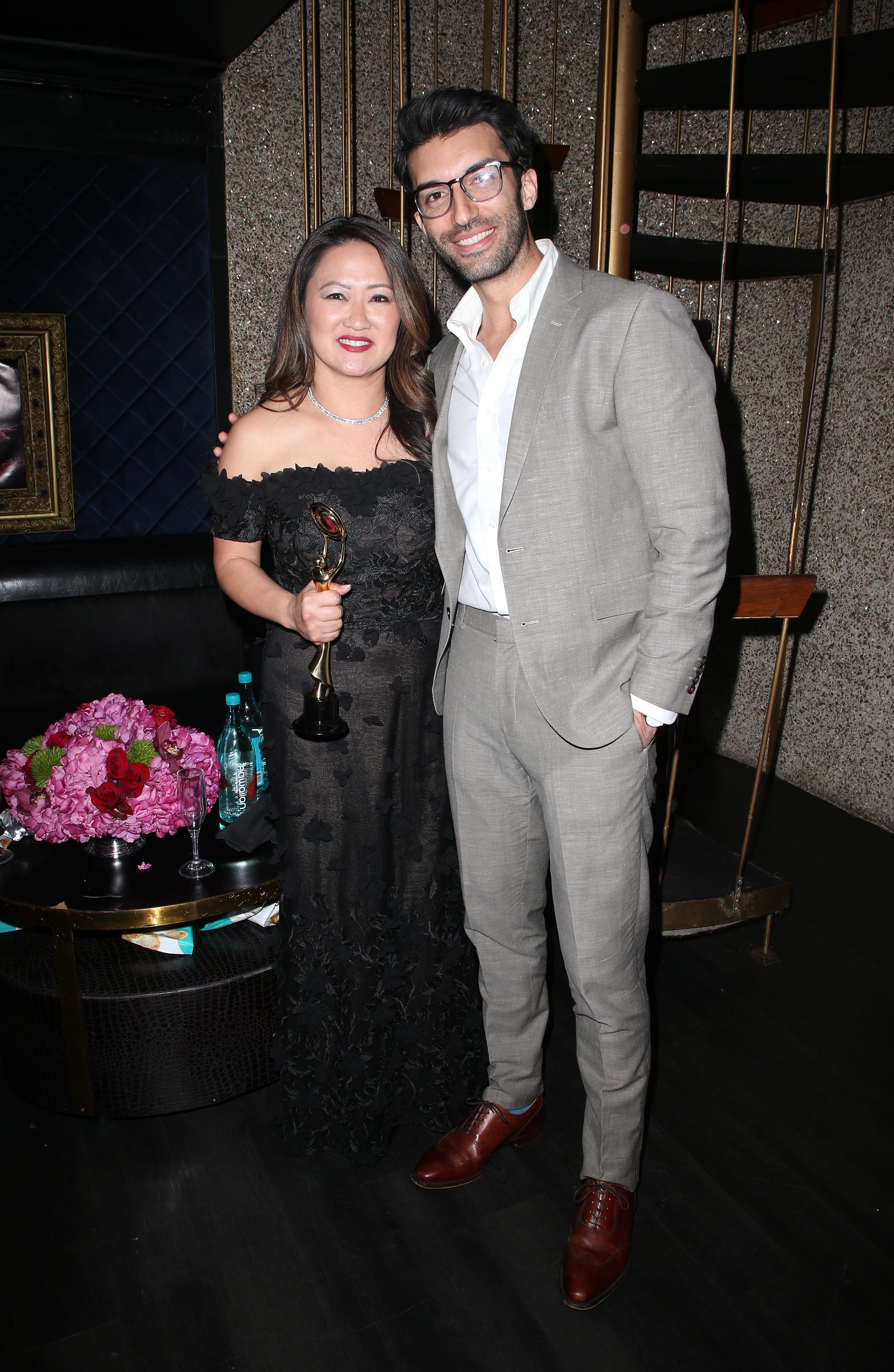Desiree Nutley and Justin Baldoni | Feb 25, 2018, Hollywood Beauty Awards held at the Avalon